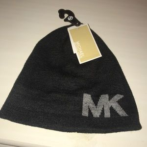 Gray Michael Kors Beanie Hat